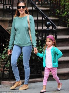 Here's one I styled earlier: Sarah Jessica Parker, 49, is upstaged by her adorable daughter Tabitha as they step out for the school run in N...