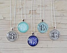 Who loves monograms? KC girls do! Our best selling monogram necklace makes the perfect gift for yourself or the special ladies in your life! Choose your favorite pattern and initial or monogram! #Monogram #Necklaces #Kraftychix