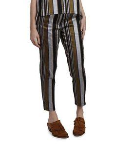 Nikki Chasin Rainer Silk Track Pants Women's Black Multi Medium