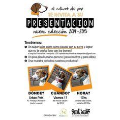 """@urbanpets's photo: """"Aquesta tarda, de 17h a 20'30h, no us podeu perdre la presentació que @elcollaretdelpep farà a Urban Pets!  Hi haurà, a més, un taller de la mà de @positivegos i berenar perruno-humà! Us hi esperem!"""""""