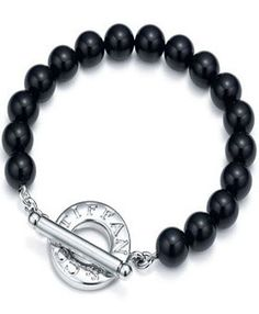 Tiffany  Co Outlet Black Beads Toggle Bracelet