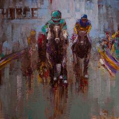 A Day At The Races Original Acrylic painting by Gray Artus  www.grayartus.com