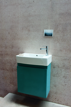 The perfect storage solution for small bathrooms and cloakrooms - Compact 250 wall - hung unit and cloakroom basin in Ocean from Britton Bathrooms. http://www.brittonbathrooms.com/Products/ProductDetail?prodId=5219&name=Compact%20250%20wall%20-%20hung%20unit%20and%20cloakroom%20basin%20-%20ocean