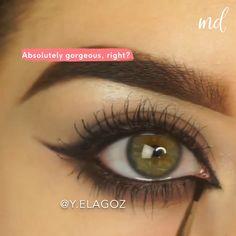 Smoke Eye Makeup, Eyebrow Makeup Tips, Makeup Tutorial Eyeliner, Makeup Looks Tutorial, Eye Makeup Steps, Makeup Eye Looks, Eye Makeup Art, Skin Makeup, Eyeshadow Makeup