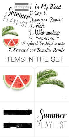"""Summer playlist"" by officialajaxxx ❤ liked on Polyvore featuring art"