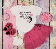 Creeper READY to SHIP Bib Set inspired by Elvis Presley Infant Romper A White Baby Bodysuit Trouble