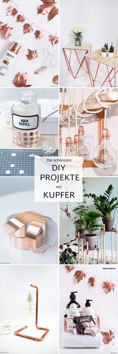 #Kupfer ist das neue Trendmaterial für Ihre #Inneneinrichtung 2017: Entdecken Sie hier eine schöne Auswahl an dekorativen #DIY-Ideen im Kupfer-Look.