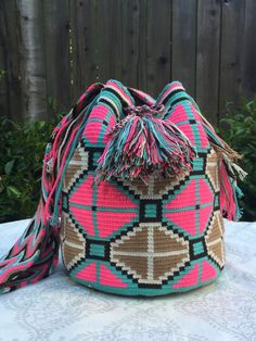 Wayuu Mochila Pink Hues FREE SHIPPING in USA hotchakrasyoga.com my favorite one!!!