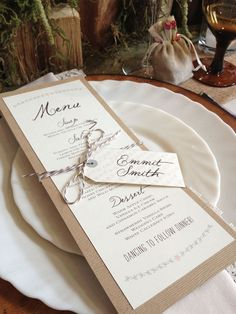 Love Love this cute little rustic menu and place card designed by Pink Polka Wedding Designs in Edmonton for an event we did in May Wedding Place Cards, Wedding Paper, Card Wedding, Diy Wedding Menu Cards, Wedding Veils, Wedding Bouquets, Wedding Ceremony, Wedding Stationary, Wedding Invitations