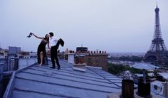 Oh hi. Just dancing on the roof in Paris in our formalwear.
