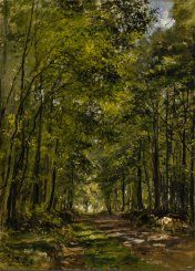 dutch-and-flemish-painters: laclefdescoeurs: Sunny Morning in the Forest, César de Cock César de Cock, who was born in 1823 in Ghent, where he died in July is a Belgian painter and printmaker, active in France. Old Trees, Dutch Painters, Tree Forest, Paintings I Love, Leiden, Delft, 16th Century, Printmaking, Paths
