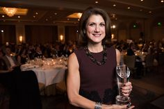 Commune Hotel + Resorts CEO Niki Leondakis poses with her award at the S.F. Business Times' Most Admired CEO Awards at the Four Seasons San Francisco on Wednesday, November 11, 2015.