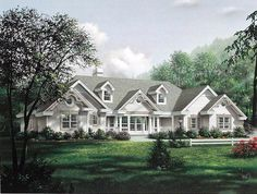 Country Ranch Southern Traditional Victorian Elevation of Plan 87871