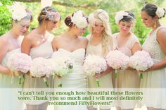 Great Gatsby Wedding - Testimonial from the Mother of the Bride - Wholesale Flowers by FiftyFlowers.com
