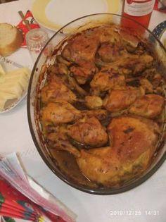 Πικάντικα μπουτάκια κοτόπουλου Curry, Meat, Chicken, Ethnic Recipes, Food, Curries, Essen, Meals, Yemek