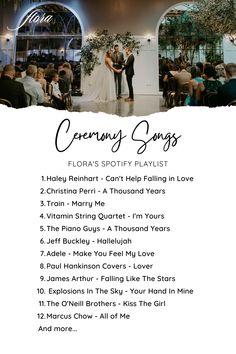 Wedding Ceremony Playlist on Spotify