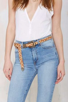 Ada Lucy Braided Leather Belt - Accessories
