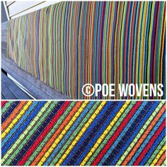 "Poe Wovens ""Crayons"" featuring a ®Repreve weft and mercerized cotton warp."