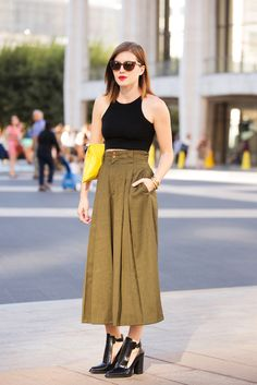 70 Next-Level NYFW Street-Style Snaps  #refinery29  http://www.refinery29.com/52992#slide-12  Ashley Turchin shows off a boots-and-culottes combo we're dying to try ourselves.
