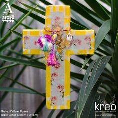 Ahoy Trader Cross - Yellow Roses $125.00
