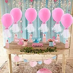 Amazon.com: Pink Tulle Balloons Tutu Balloon with Box Base Centerpieces for Baby Shower Girl Birthday Party Wedding Cake Table Decorations ,12 Inch Balloon White Tulle Cover, 6 Pack: Toys & Games Wedding Cake Table Decorations, Dessert Table Decor, Baby Shower Centerpieces, White Tulle, Pink Tulle, Party Wedding, Wedding Cakes, Tulle Balloons, Tutu Party
