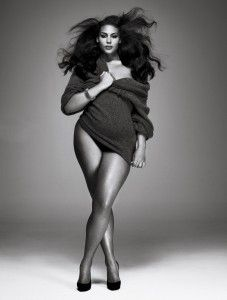 "gorgeous ""plus size"" (aka normal size) model"