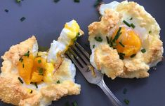 Cloud eggs feature a bright yolk resting in a pillowy bed of egg whites. Learn how to make this gorgeous, protein-rich breakfast dish with our easy recipe. Healthy Egg Recipes, Egg Recipes For Breakfast, Breakfast Dishes, Breakfast Ideas, Skinny Recipes, Breakfast Time, Eggs In Clouds, Protein Rich Breakfast, Ketogenic Breakfast