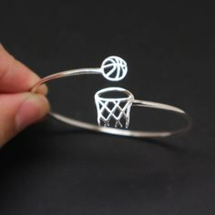 Silver Basketball Rim and Net Bracelet Bangle - Basketball Jewelry, Gift for Bas. - Silver Basketball Rim and Net Bracelet Bangle – Basketball Jewelry, Gift for Basketball Lovers, F - Basketball Jewelry, Basketball Rim, Basketball Gifts, Basketball Drills, Basketball Pictures, Sports Gifts, Basketball Boyfriend, Basketball Accessories, Basketball Drawings
