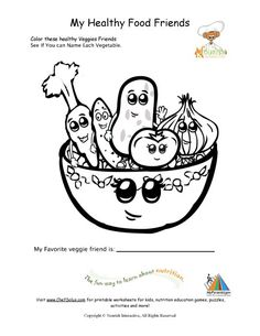 List Healthy Food Coloring Page Kids Coloring Pages Pinterest