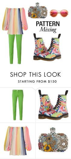 """Color Patern Mixing"" by catempire ❤ liked on Polyvore featuring Jacob Cohёn, Dr. Martens, Chloé, Alexander McQueen, Wildfox and patternmixing"