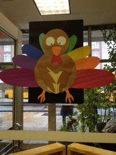 Thanksgiving Display at the Windsor Terrace Branch of the Brooklyn Public Library, November 2014.