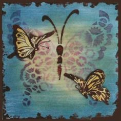 Daniela Rogall, Stencil, butterfly, Mixed Media, Mixed Media Art
