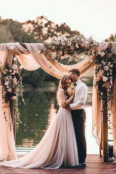 30 Excellent Wedding Poses For Bride And Groom ❤ wedding poses couple near water tatyanacvetkova ❤ See more: http://www.weddingforward.com/wedding-poses/ #weddingforward #wedding #bride