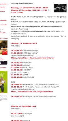Gratis-Teilnahme an allen Programmen TAGE DER OFFENEN TUER Sonntag 16. November + Montag 17. November bei FUNROBIC Fitness Park in Lostorf (Region Aarau-Olten) - www.funrobic.ch