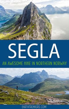 Segla is a short but tough hike to an amazing viewpoint in northern Norway. This is one of the best hikes to do on Senja. Includes a drone video. Kristiansand Norway, Stavanger Norway, Norway Roadtrip, Norway Travel, Adventure Time, Adventure Travel, Adventure Tattoo, Peter O'toole, Lofoten