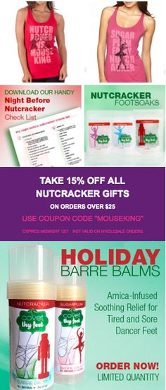 15% OFF ALL NUTCRACKER SHIRTS AND GIFTS TODAY ONLY http://www.covetdance.com/product-category/nutcracker-gifts