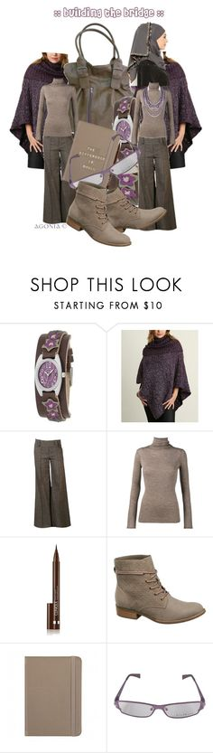 """Building the bridge - poncho"" by agonia ❤ liked on Polyvore featuring FOSSIL, Wet Seal, Vince, Clinique, Richmond and BaubleBar"