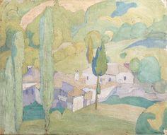 Spyros Papaloukas View of a Greek village 28 x cm. x 13 in. Man Made Environment, Oil Water, Post Impressionism, Greek Art, Impressionist Paintings, Bond Street, Creative Art, Auction, Fine Art