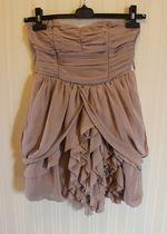 Beżowa sukienka H&M 36/S, możliwość noszenia na 2 sposoby