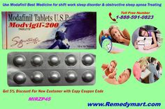 Modafinil is a wakefulness drug for patient suffering from sleepiness caused by narcolepsy, shift work sleep disorder and obstructive sleep apnea. The drug has been found quite effective in treating these disorders.