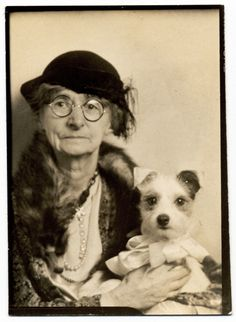taking the doggie to the photobooth 1939