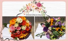 Flowers bouquet / Wedding bouquet by Event Deco. Find us on Facebook, Event.Deco.page! Flower Bouquet Wedding, Floral Wedding, Anniversary Parties, Christening, Floral Wreath, Romantic, Wreaths, Facebook, Party