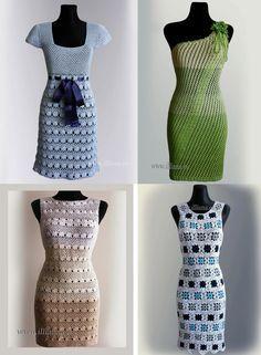 Crochet patrones PDF 4 artículos