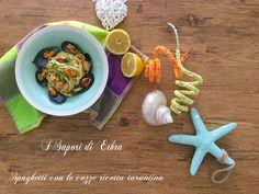 Spaghetti con le cozze ricetta tarantina - I Sapori di Ethra http://blog.giallozafferano.it/isaporidiethra/spaghetti-con-le-cozze-ricetta/