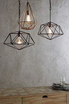 Euclidean Pendant Lamp, Diamond - anthropologie.com