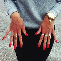 long white nail fashion square - Google-søk