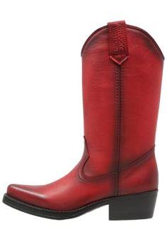 Cowboystøvler - venecia red eller svart (str 38)