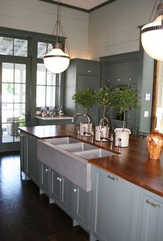 Southern Living Idea House - cabinet color, counter tops