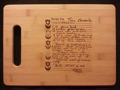 Custom engraved cutting board for Jamie from 3dcarving on Etsy