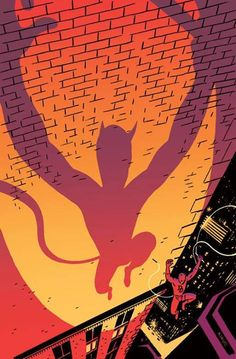 Daredevil by R. Kikuo Johnson * I think this might be my favorite image of Matt Murdoch's alter ego. Sorry, Frank Miller and Ben Affleck.